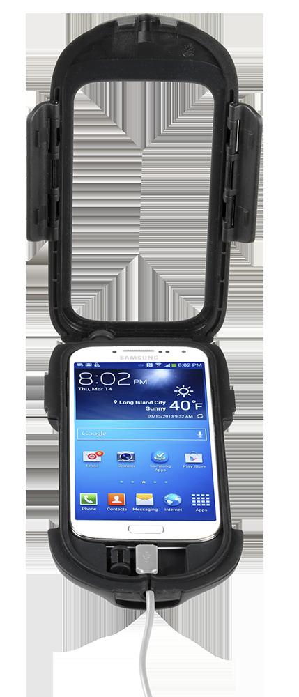 Cellular line for non-tubular handlebars GalaxyS4 holder