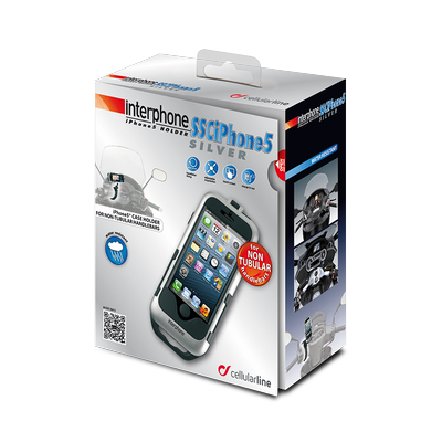 Supporto Porta IPhone5 silver manubri non tubolari Cellular Line