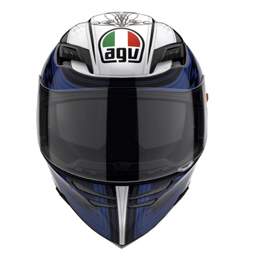 AGV Stealth SV Multi Track Full Face Helmet - Black/Blue
