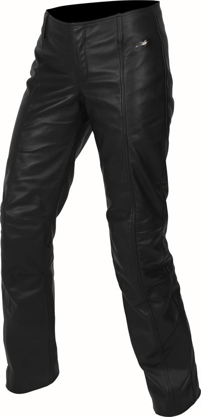 Pantaloni moto donna in pelle Alpinestars Stella Alloy neri