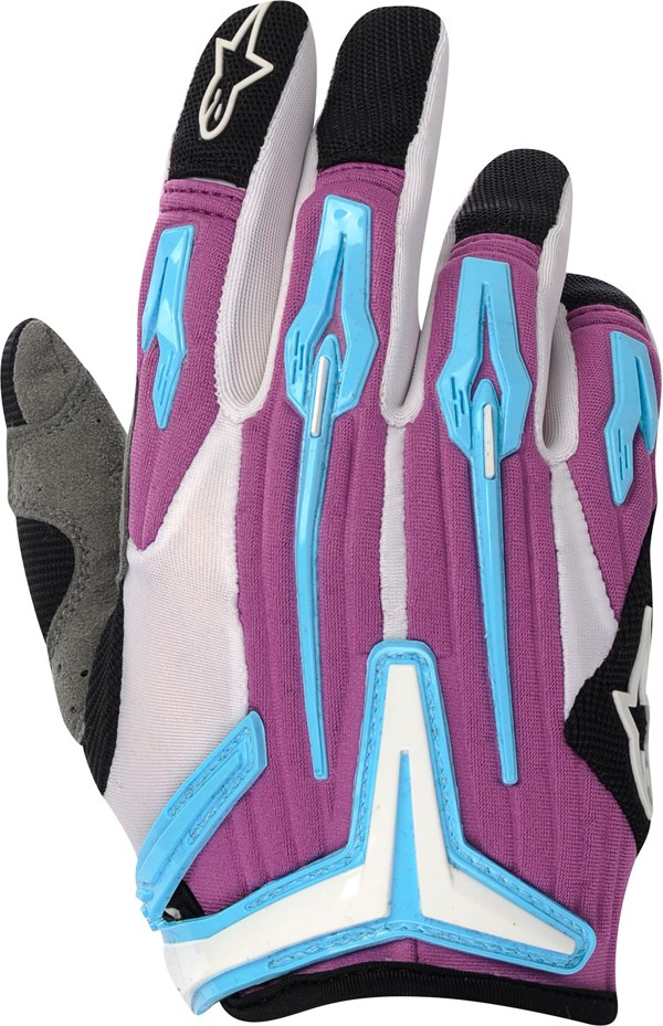 Alpinestars Stella Charger women off-road gloves sky-violet-blac