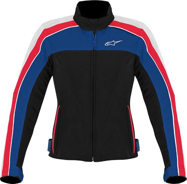 Alpinestars Stella Solaris TX women jacket black-white-blue-red