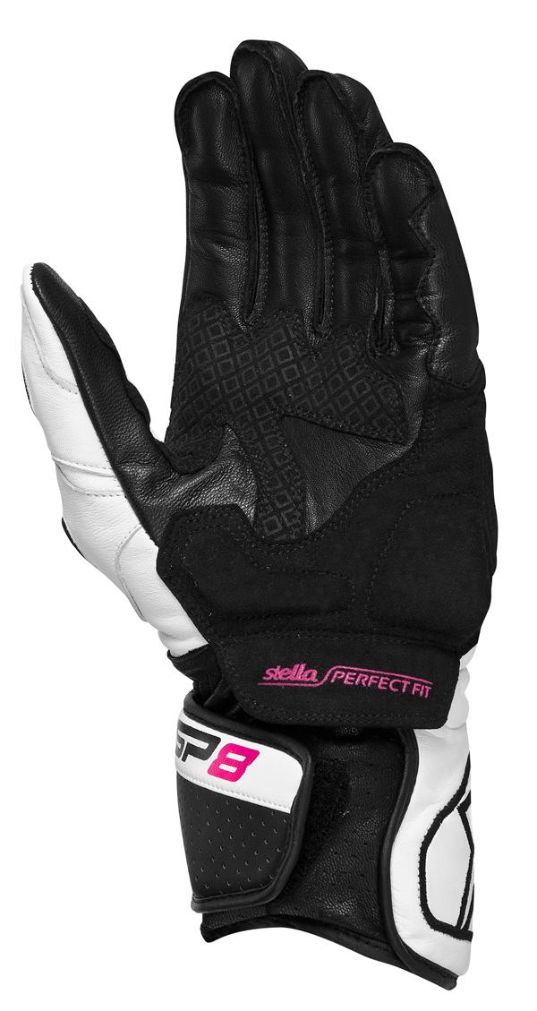 Alpinestars  STELLA SP-8 leather gloves white
