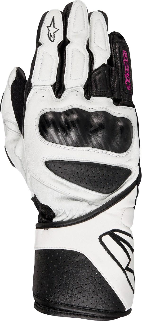 Guanti moto donna Alpinestars Stella SP-8 bianchi