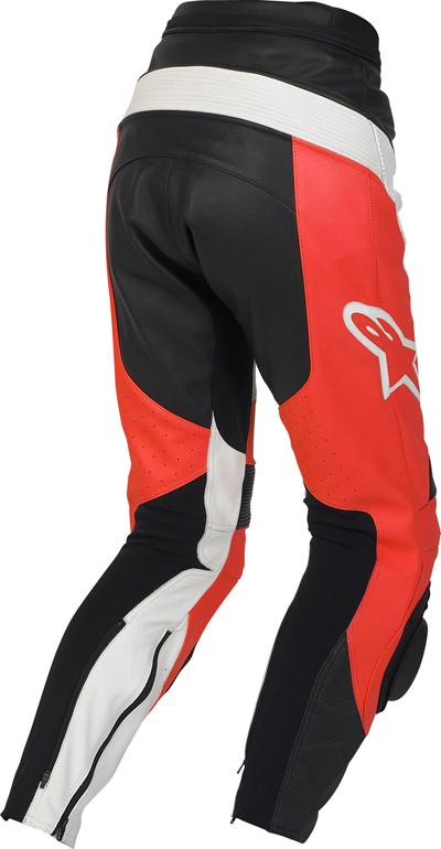 Pantaloni moto donna pelle Alpinestars Stella Track rossi