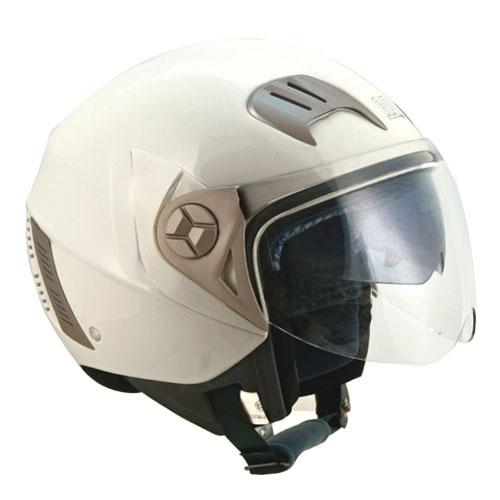 CGM Street jet helmet with sun visor Pearl White