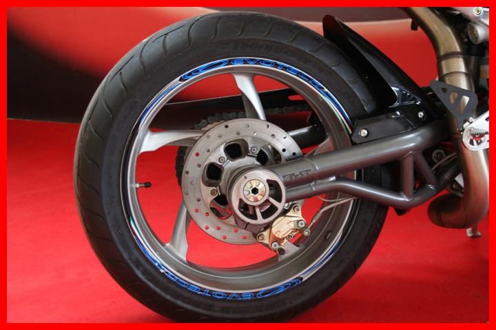 Evotech Wheel Stickers Blue