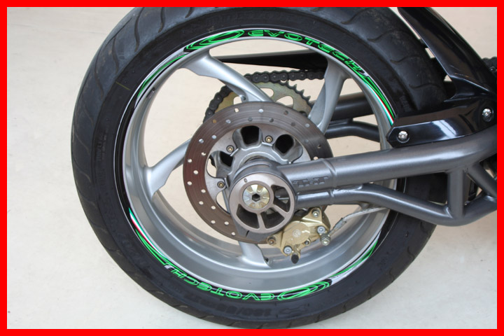 Evotech Stickers Green Wheel