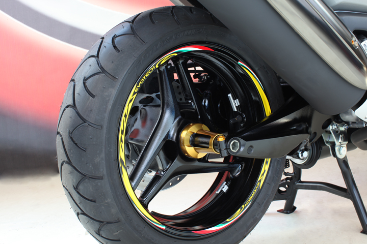 Evotech Wheel Stickers T-max Yellow
