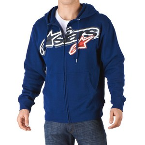 Felpa Stuck zip Fleece Navy Alpinestars