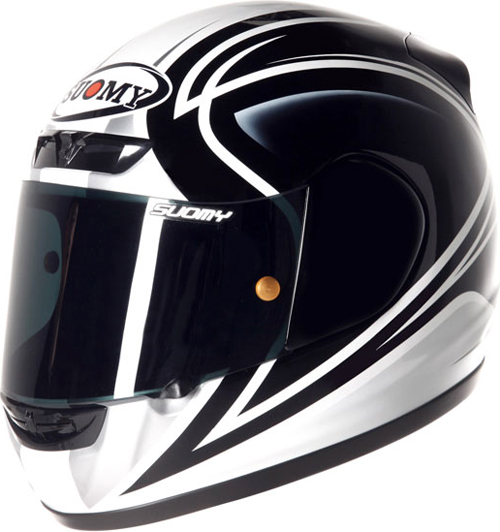 Casco moto integrale Suomy Apex 60's Legend nero