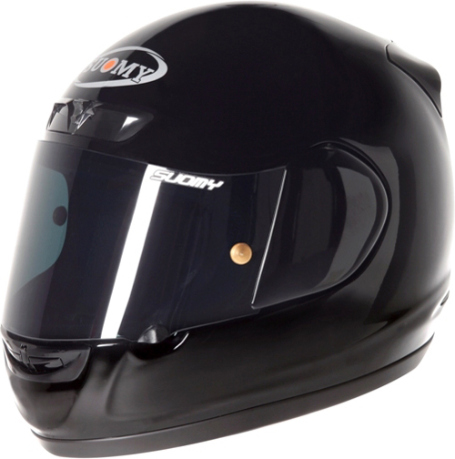 Casco moto integrale Suomy Apex Plain nero lucido
