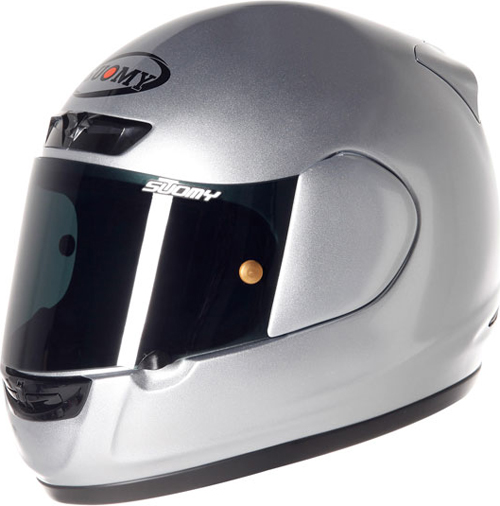 Casco moto integrale Suomy Apex Plain silver