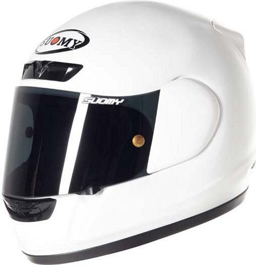 Casco moto integrale Suomy Apex Plain bianco