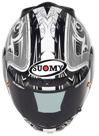 Casco moto integrale Suomy Apex Tornado silver-antracite
