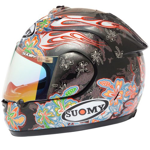 Suomy Excel Flowers full-face helmet silver-black