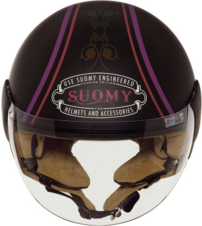 Casco moto Suomy Jet Light Cocco Morpho nero