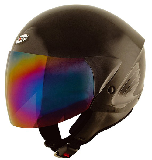 Casco moto Suomy Jet Light Plain nero lucido
