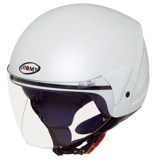 SUOMY Jet Light Plain jet helmet white pearl