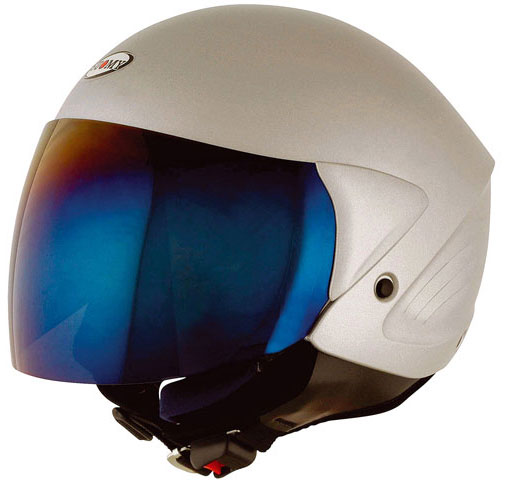 Casco moto Suomy Jet Light Plain argento