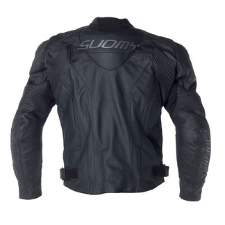 Suomy Rebel leather jacket Black Grey
