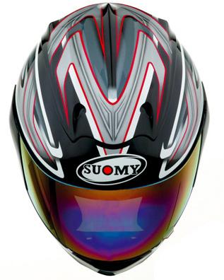 Casco moto integrale Suomy  Graphic nero lucido