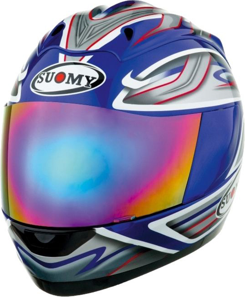 Casco moto integrale Suomy Graphic blu