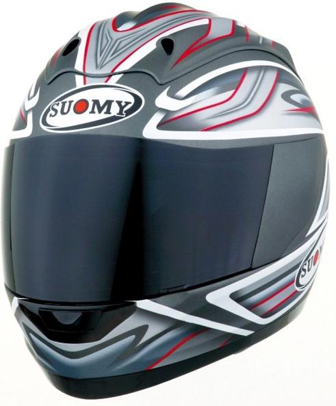 Casco moto integrale Suomy Graphic antracite opaco