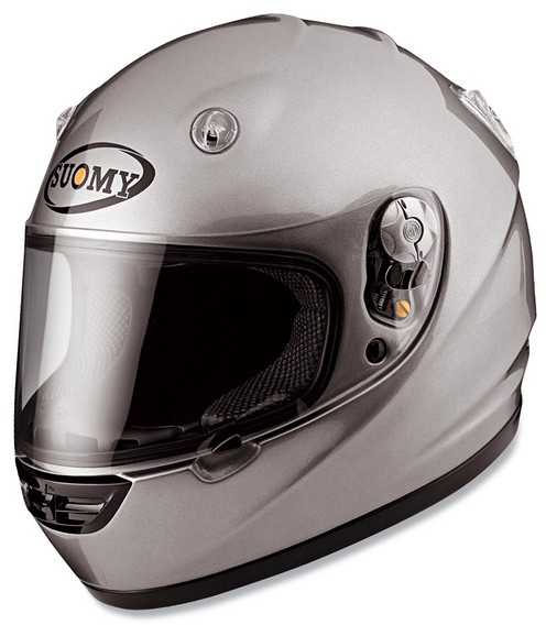 Casco moto integrale Suomy Vandal Plain silver