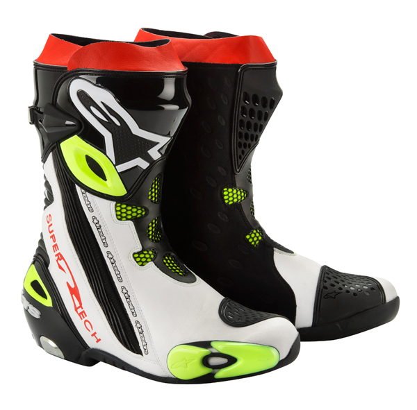 Alpinestars Supertech R 2012 racing boots white-black-yellow
