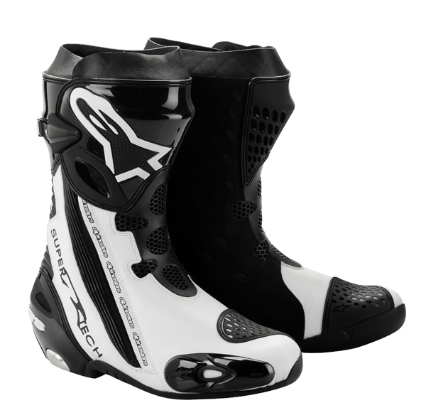 Alpinestars Supertech R 2012 racing boots white-black