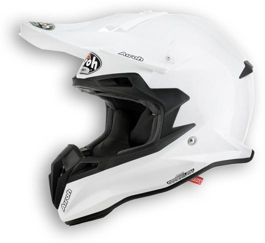 Casco moto offroad Airoh Terminator 2.1 Color bianco lucido