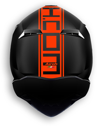 Casco moto offroad Airoh Terminator 2.1 Com arancio opaco