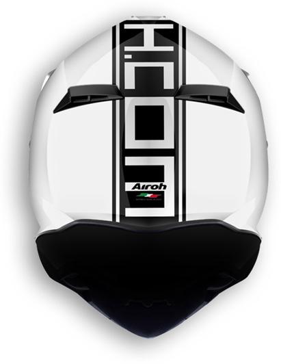 Casco moto offroad Airoh Terminator 2.1 Com bianco lucido