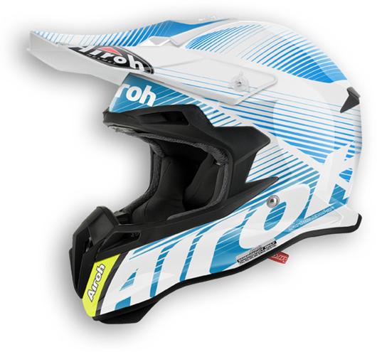 Airoh Terminator 2.1 Levels offroad helmet azure gloss