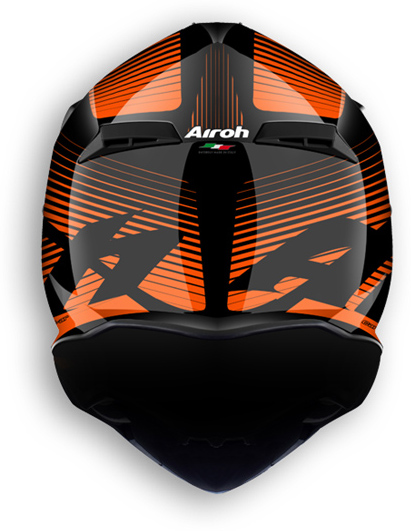 Airoh Terminator 2.1 Levels offroad helmet orange gloss