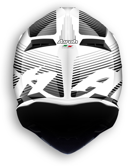Casco moto offroad Airoh Terminator 2.1 Levels bianco lucido