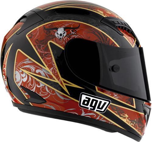 AGV T-2 Multi Reach Full Face Helmet - Col. Black/Red