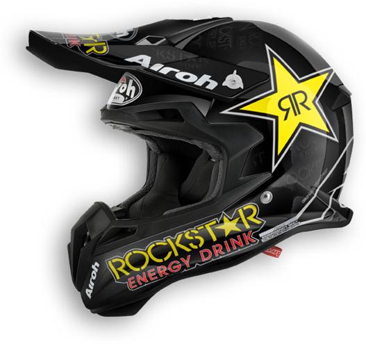 Casco moto offroad Airoh Terminator 2.1 Rockstar