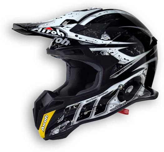 Casco moto offroad Airoh Terminator 2.1 Splash nero lucido