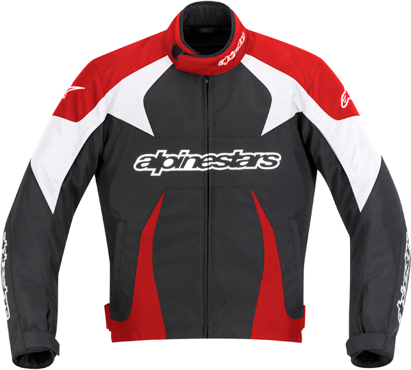 Giacca moto Alpinestars T-GP PLUS nera-rosso-bianco