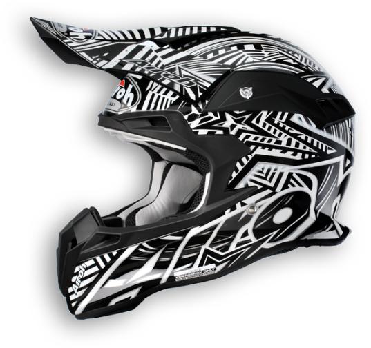 Casco moto cross Airoh Terminator Stardust nero