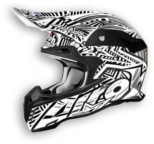 Casco moto cross Airoh Terminator Stardust bianco