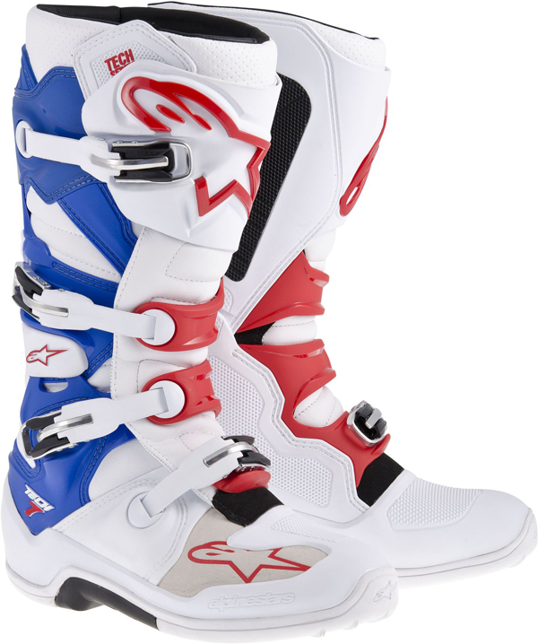 Alpinestars Tech-7 off-road boots white-blue-red 2014