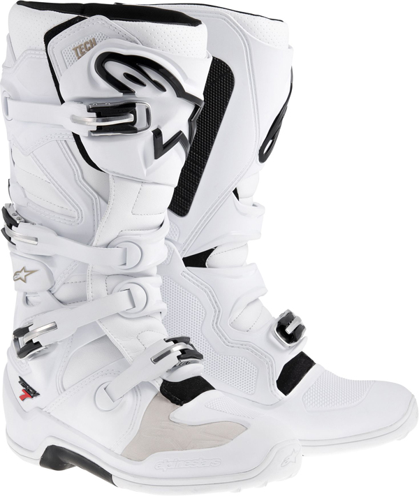 Stivali moto off-road Alpinestars Tech-7 2014 bianco ventilati