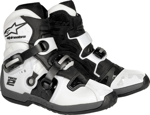 Alpinestars Tech 2 off-road boots white-black
