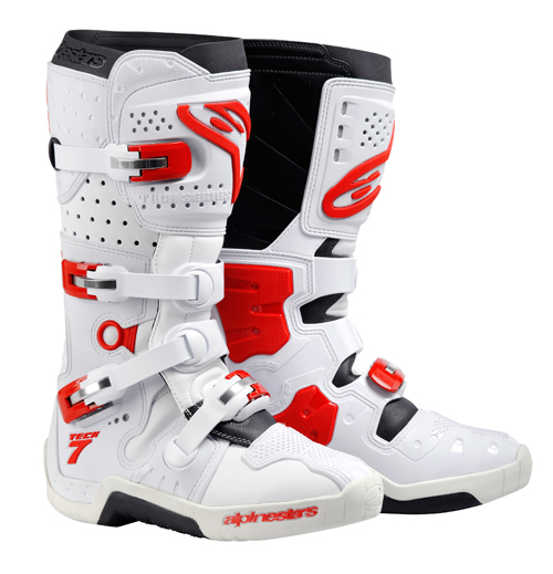 Alpinestars Tech 7 off-road boots white-red