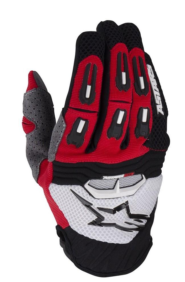 Alpinestars Techstar off-road gloves red black