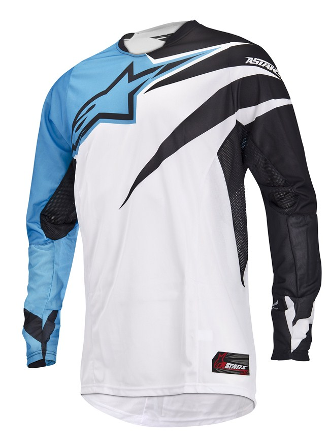 Alpinestars Techstar off-road jersey cyan black