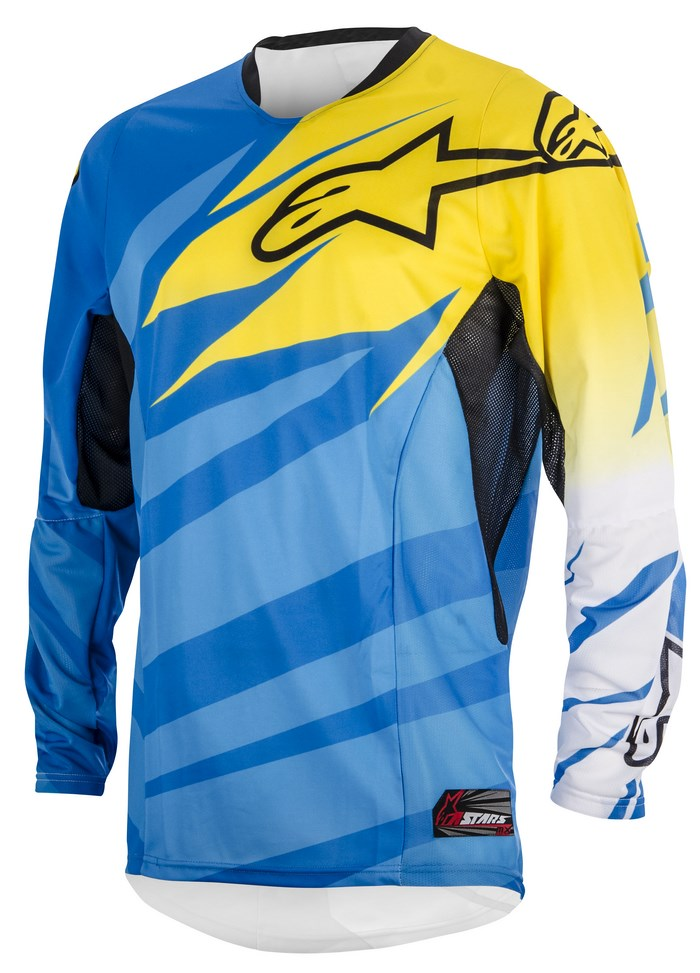 Alpinestars Techstar 2014 offroad jersey cyan yellow white